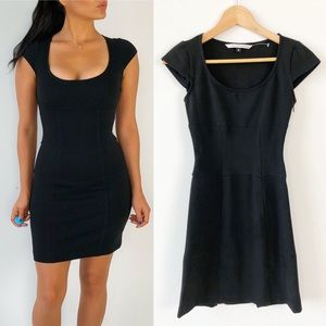Diane Von Furstenberg Black Bodycon Dress